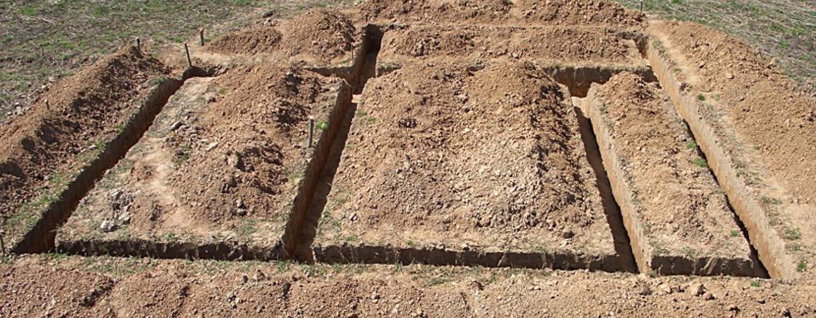 Как копать траншею под фундамент