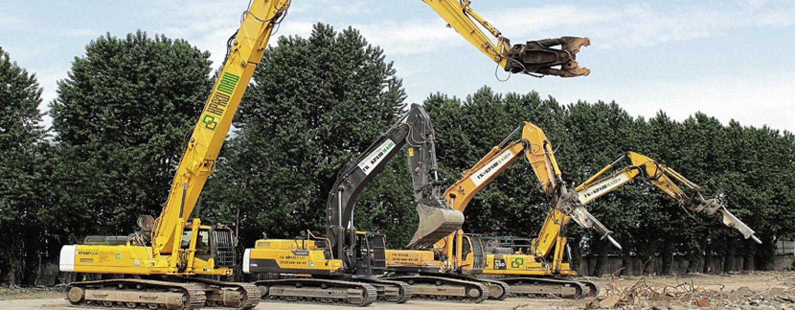 Оборудование для демонтажа зданий